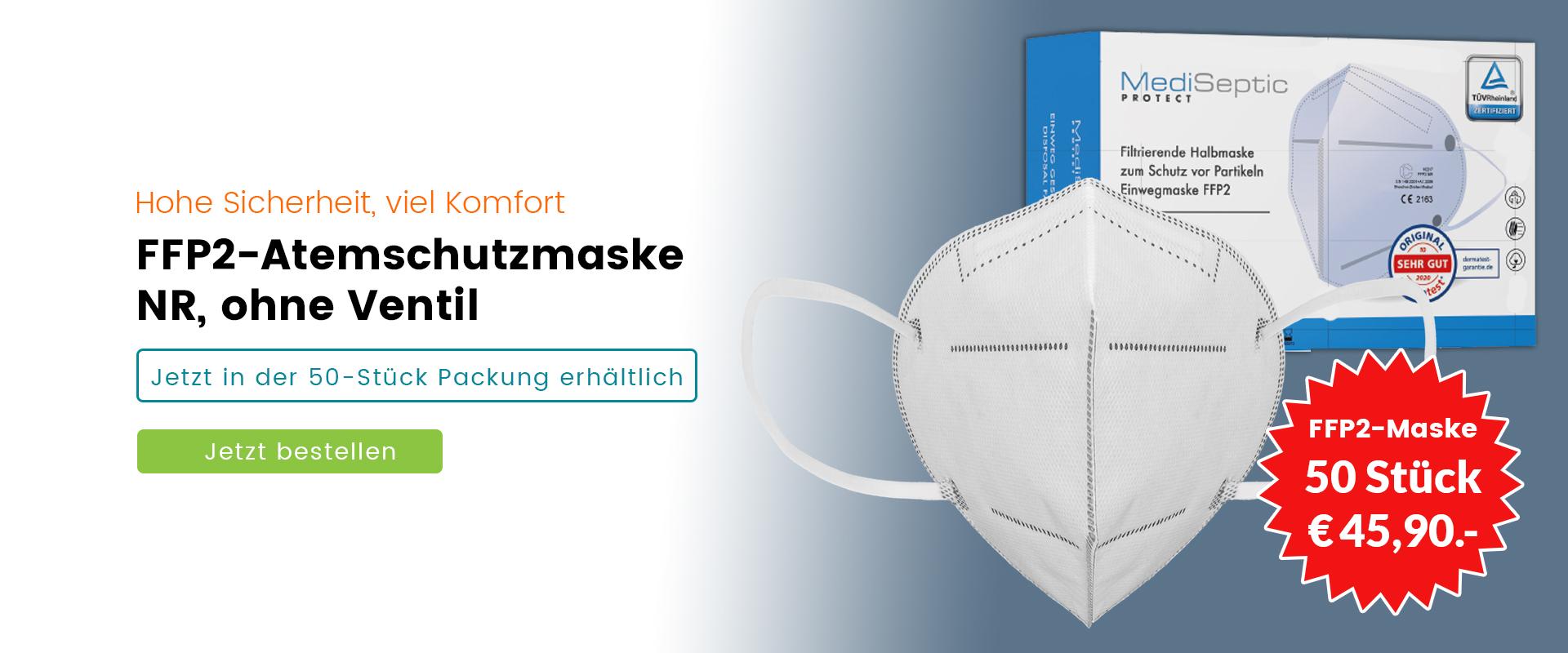 FFP2 Maske - 50 Stück Packung
